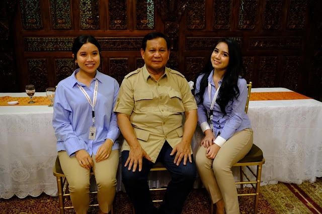 Prabowo Minta Influencer Milenial Bikin Sesuatu Hal Baru