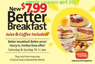 Golden Corral coupons april 2017