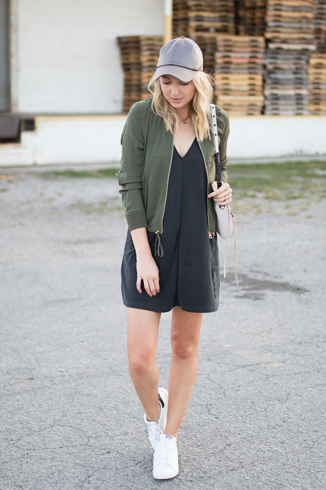 Bomber jacket + dress