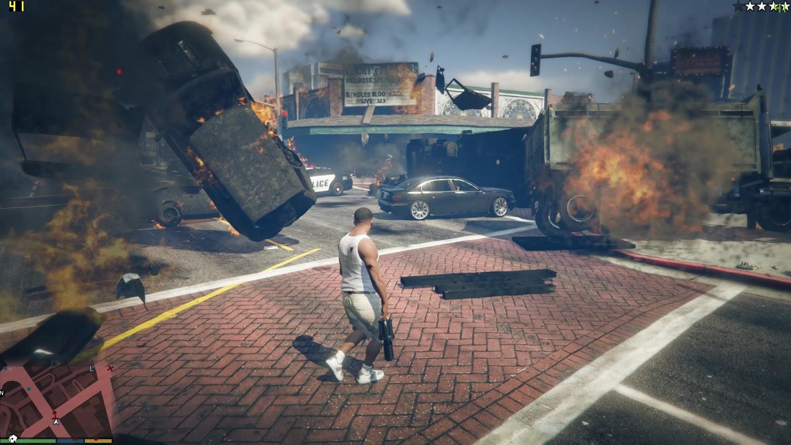 GTA V - Quantum Break script mod   GTA V