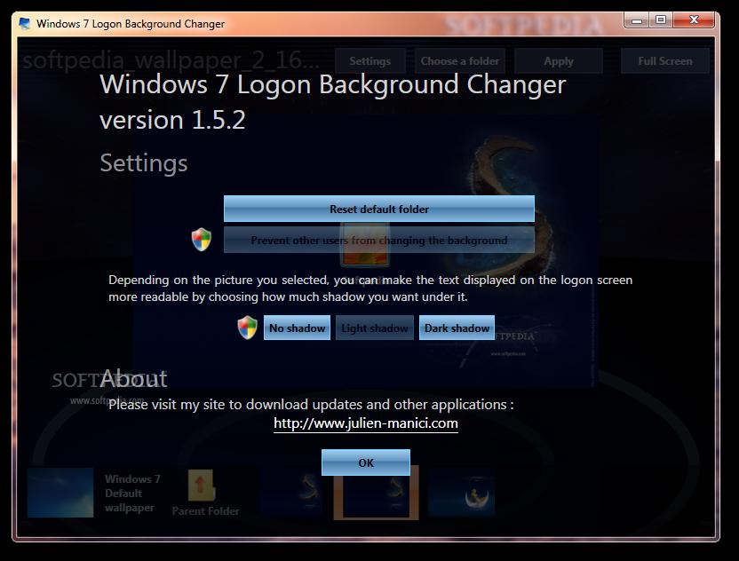 Fancy software windows 7 logon background changer 1 5 2 0 - Windows 7 wallpaper changer software ...