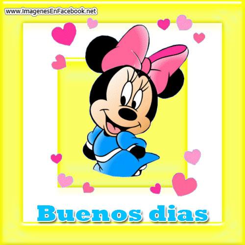 Minnie Mouse Buenos dias