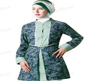 model atasan batik wanita muslim