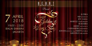 cari tiket event concert golden love song di balai sarbini jakarta