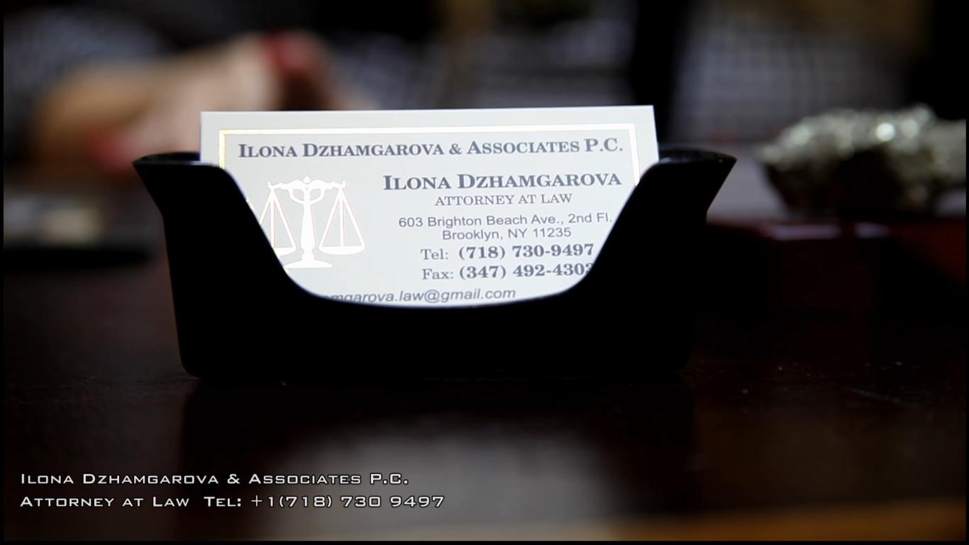 Иммиграционный адвокат в Нью-Йорке Илона Джамгарова (Ilona Dzhamgarova)