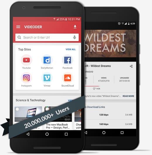 ئهندرۆید | باشترین و خێراترین بەرنامەی داگرتنی ڤیدیۆ و فایلی دەنگی VideoDer بە کوردی