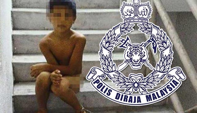 Budak Bogel Dirantai Di Tangga Kini Dalam Jagaan Polis, JKM
