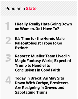 I will read one and only one of articles on the  Popular in Slate  list, which I think stands on it s own as something worth reading.