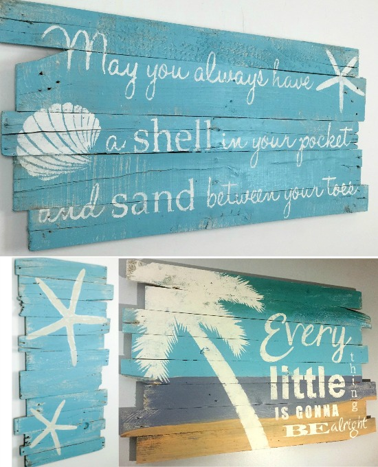 Beach Paintings on Wood