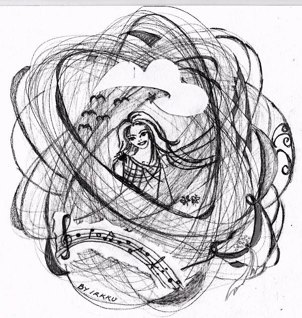 Toukokuun tyttö, piirrustus by irja, toukokuu