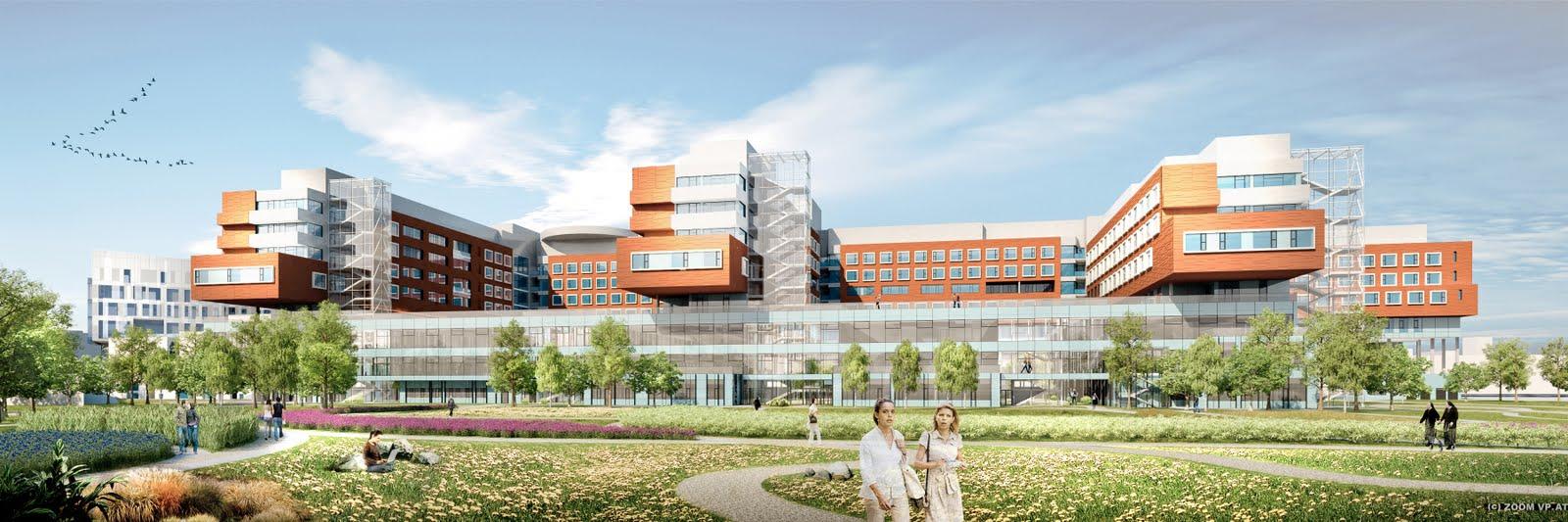 architektur und raumplanung online krankenhaus nord das modernste spital europas bald in wien. Black Bedroom Furniture Sets. Home Design Ideas