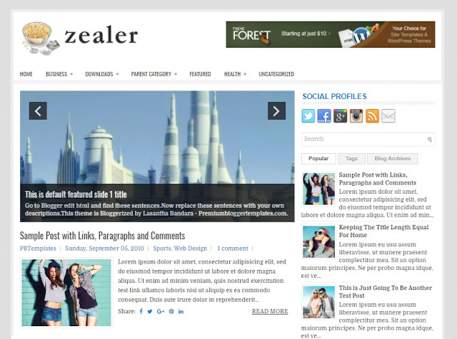 Zealer Blogger Template free download theme blogspot