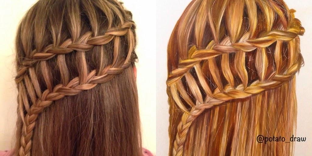 Hairstyle Drawings: Hair Styles By Liberty: Braid Drawings