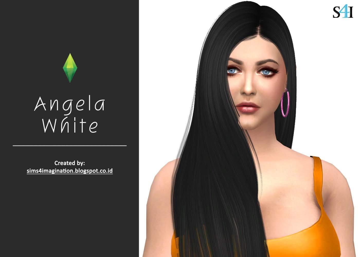 My Sims 4 CAS: Angela White (Patreon)