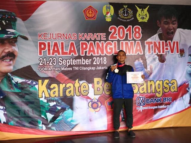 Karateka Yonif Raider 509 Kostrad Raih Piala Panglima TNI Tahun 2018