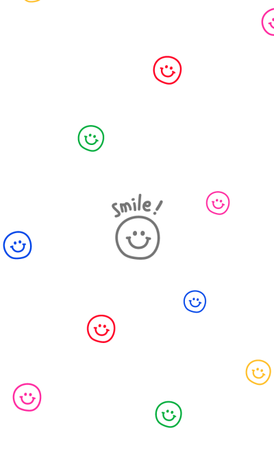 colorful smiling faces.
