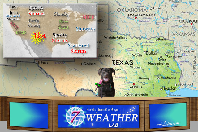 USA weather forecast courtesy of Paisley the Weather Lab