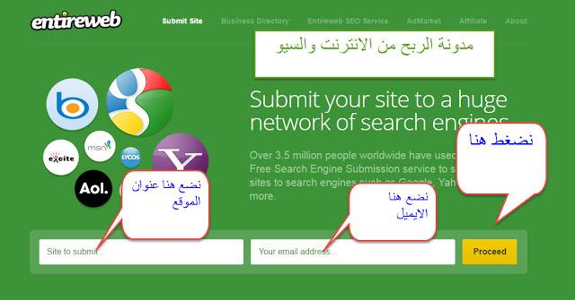 نشر موقعك او مدونتك في العديد من محركات البحث