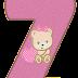 Alfabeto en Rosa con Ositos Bebé con Corazones.