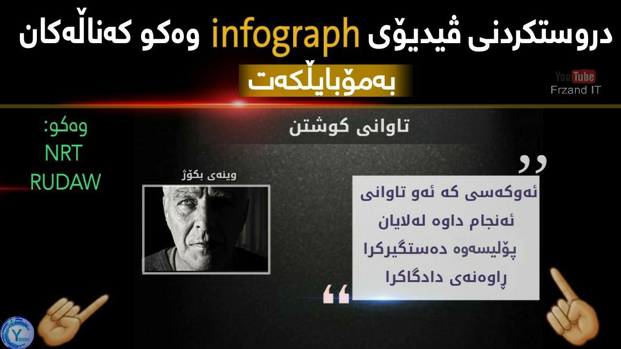 دروستکردنی ڤیدیۆی InfoGraph ینفۆگرافیک وەکو کەناڵەکان_ بەمۆبایلکەت