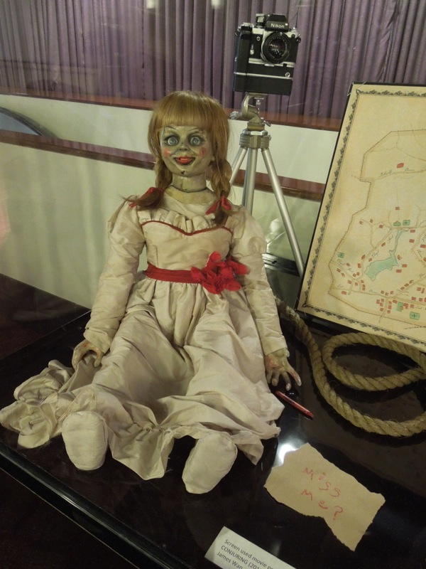 The Conjuring possessed doll movie prop