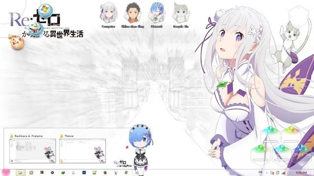 Re:Zero kara Hajimeru Isekai Seikatsu Theme Win 7 by Bashkara