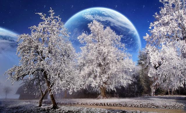 Fantasie afbeelding met planeten