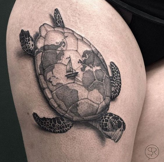 22 most common turtle tattoos designs amazing tattoos. Black Bedroom Furniture Sets. Home Design Ideas