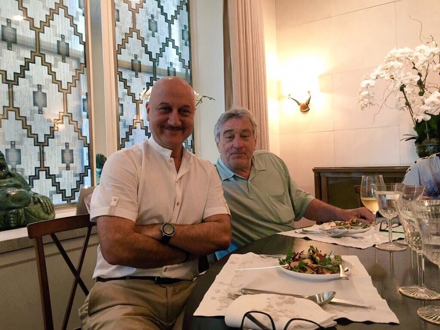 Anupam Kher Meets Robert De Niro Over Lunch
