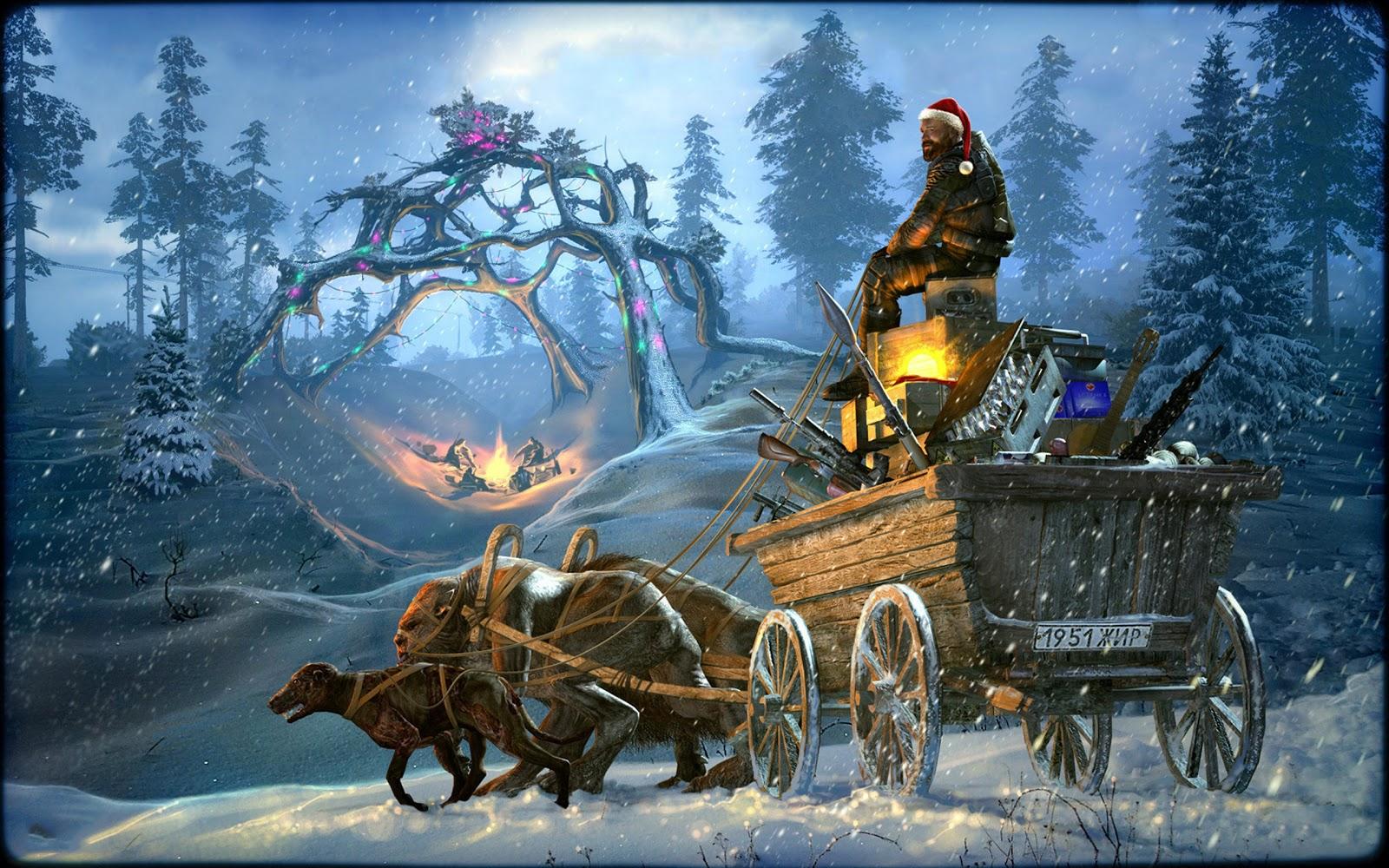 Merry Christmas And Santa HD Desktop Wallpapers
