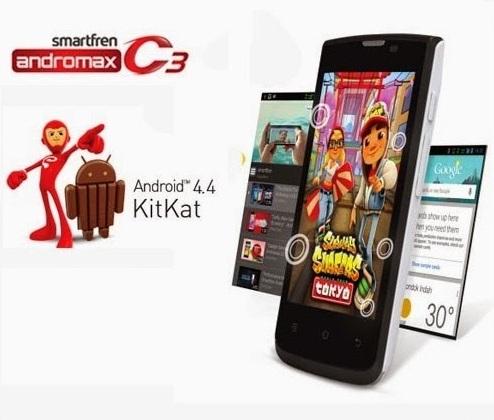 Harga HP Smartfren Andromax C3 tahun Ini Lengkap Dengan Spesifikasi Harga Rp. 500 Ribuan Android Kitkat