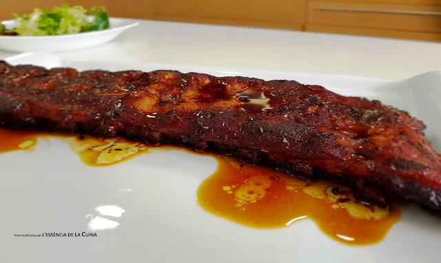costella de porc, patates violeta, blog de cuina, costilla, cocina facil