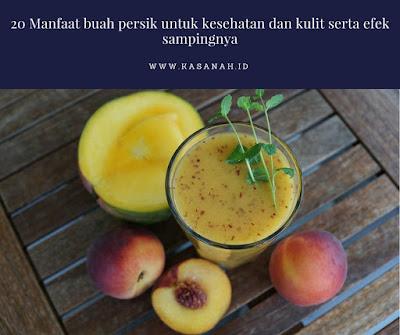 manfaat buah persik untuk kecantikan