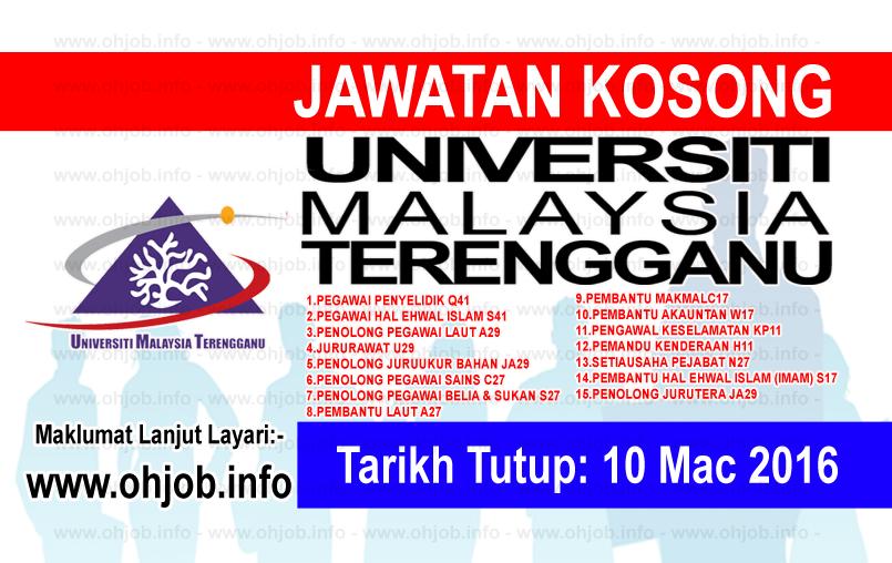 Jawatan Kerja Kosong Universiti Malaysia Terengganu (UMT) logo www.ohjob.info mac 2016