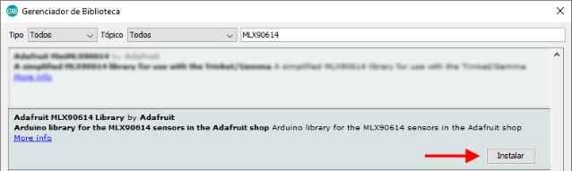 Instalação biblioteca Adafruit MLX90614 Arduino