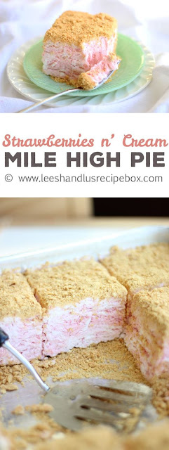 Strawberries & Cream Mile-High Pie