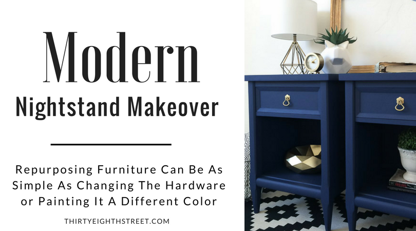 painted nightstands, bedroom furniture, modern furniture, furniture makeover, painted furniture, furniture refinishing, blue nightstands