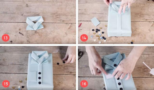 Langkah Membungkus Kado Bentuk Baju Part 4