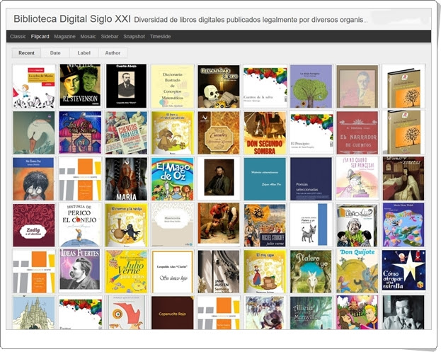 """Biblioteca Digital Siglo XXI"" (Libros digitales online)"