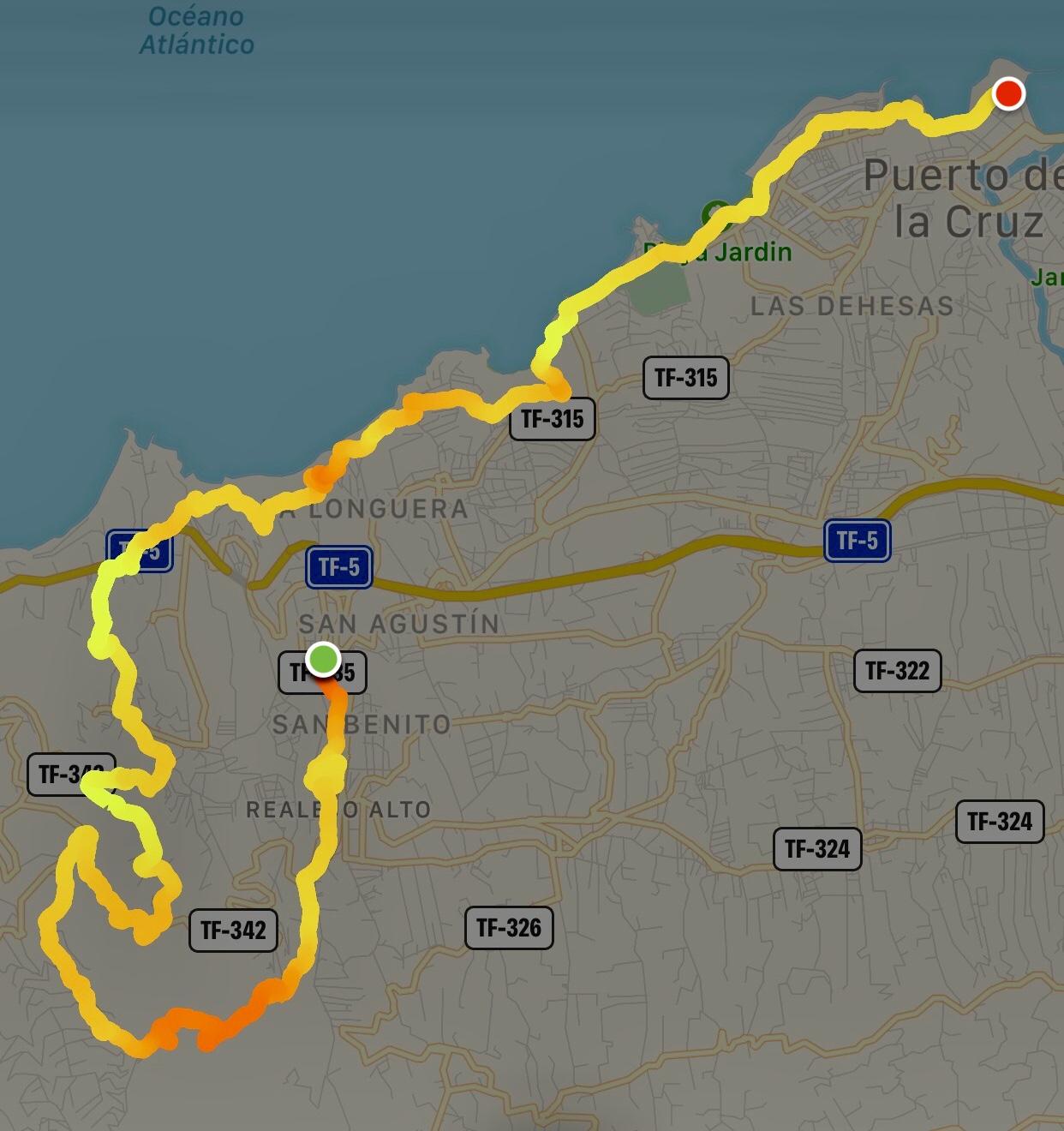 Bluetrail Tenerife Teneriffa Strecke
