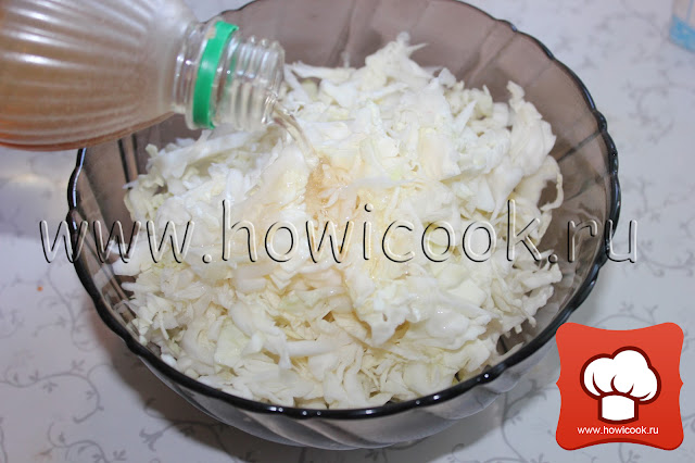 Салат из белокочанной капусты рецепт пошаговые фото