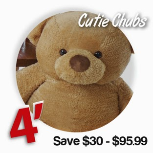 Amber brown 48in Cutie Chubs Giant Teddy bear