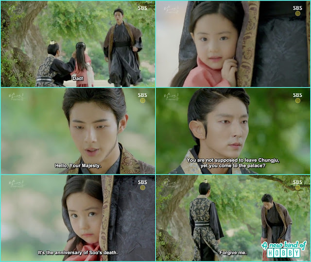 When king wang so saw Wang jung in the palace he told him about his punishment he ask for forgiveness and said today was Hae Soo death anniversery  - Moon Lovers Scarlet Heart Ryeo - Episode 20 Finale (Eng Sub)