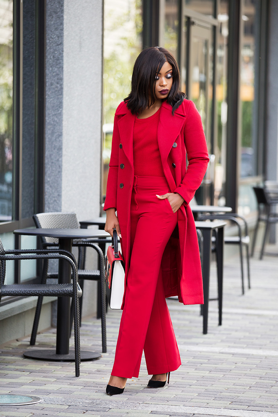red on red trend, monochromatic look, www.jadore-fashion.com