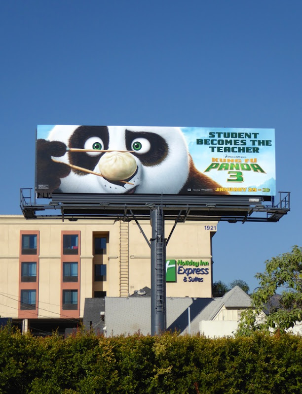 Kung Fu Panda 3 film billboard