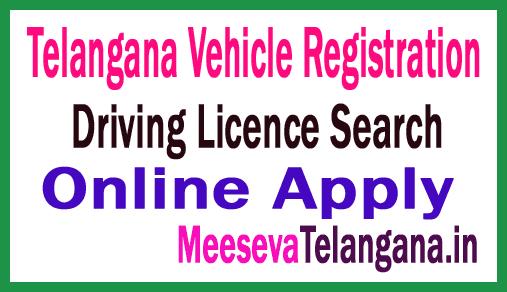 Telangana State RTA Driving Licence Search