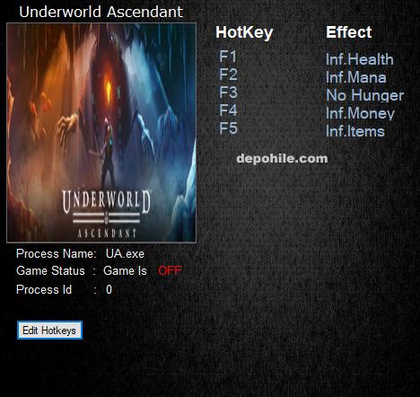 Underworld Ascendant (PC) Can,Para +5 Trainer Hilesi İndir