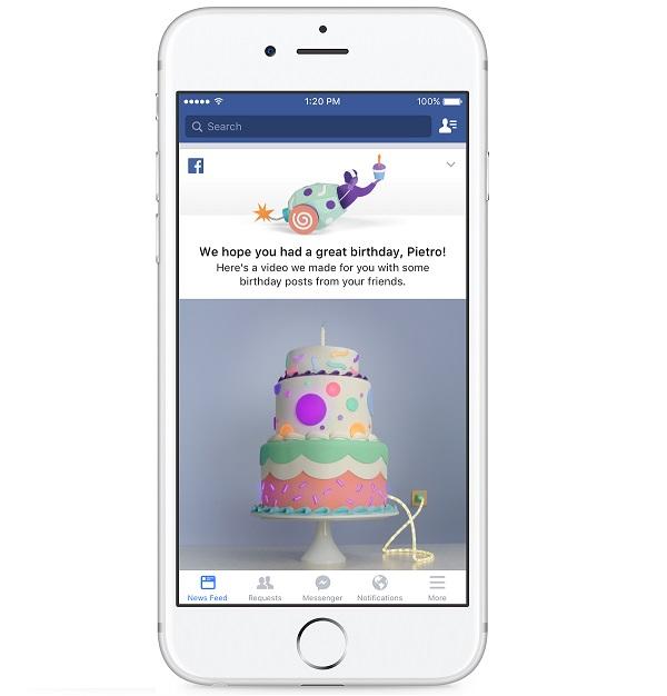 Facebook estrena los vídeos de cumpleaños