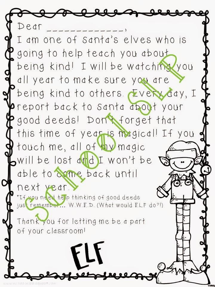 School SLP: ELF Activities!
