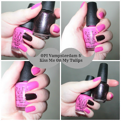 OPI VAMPSTERDAM OPI KISS ME ON MY TULIPS SWATCH